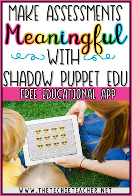 """Make Assessments MEANINGFUL with the FREE app, Shadow Puppet EDU. There are so many ways you can use this app as an interactive assessment. Students will never know they are being """"tested""""."""