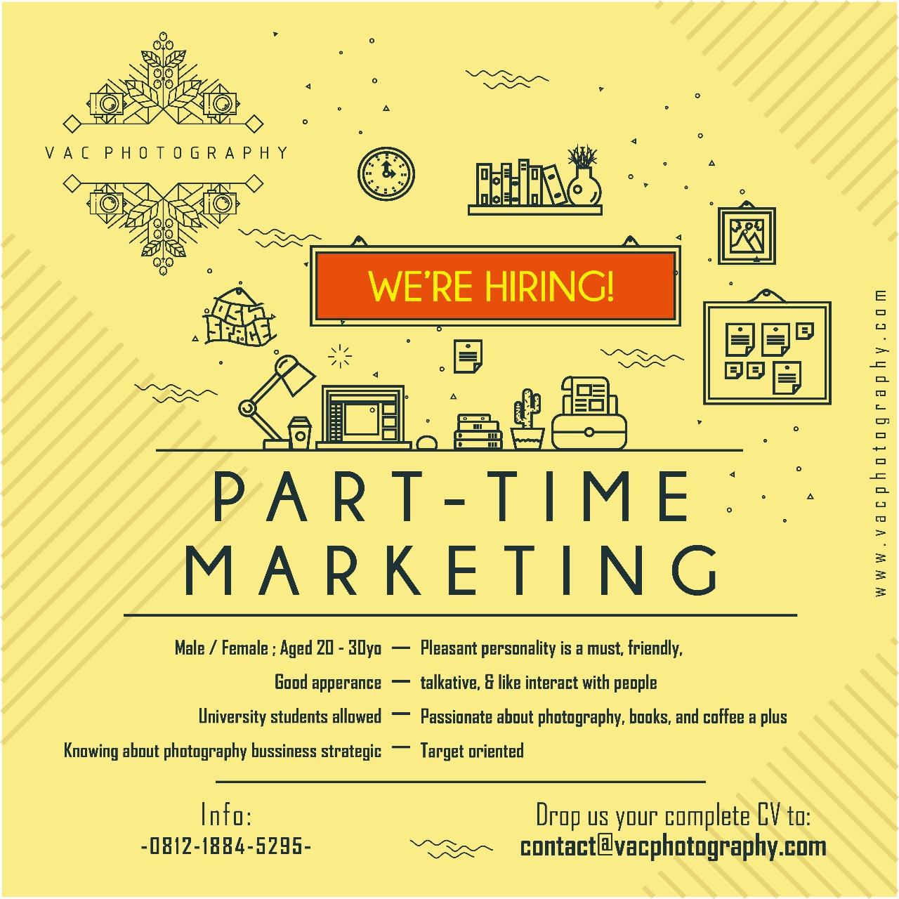 Lowongan Kerja Part Time Marketing Di Vac Photography Yogyakarta