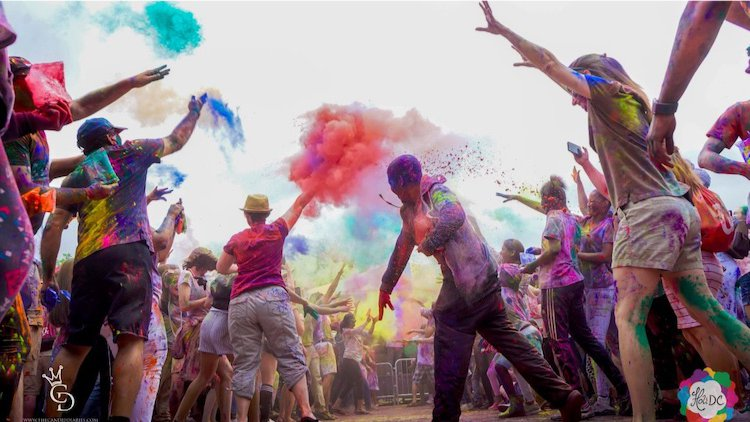 Holi Becomes Family Tradition For Many in Washington D.C. Locals