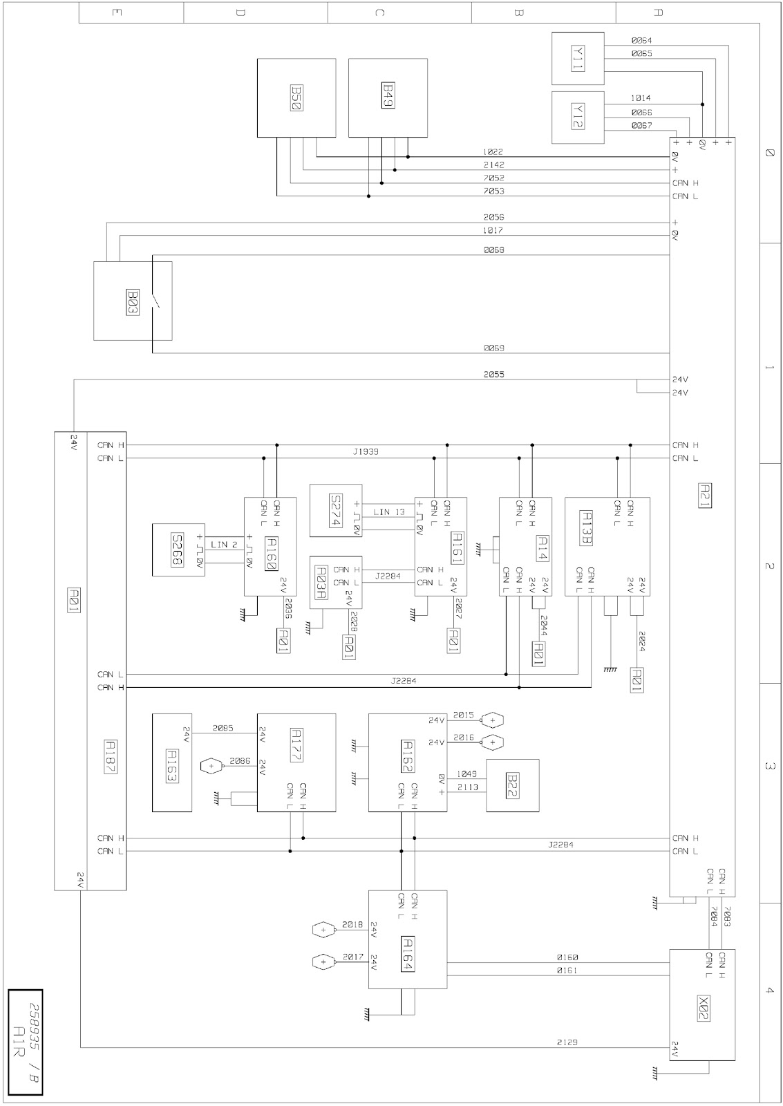 Braking Management Wiring Diagrams Renault Trucks T Euro Vi Diagram A01 Electric Distribution Unit In Cab A03a Main Information Display Cak A13b Robotized Transmission Ecu Cd1 A14 Engine Cc4 Cch