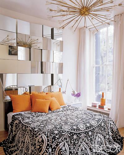 decoração de quarto com espelhos