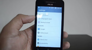 Tutorial how to hard reset your mobile phone to Asus Zenfone 4