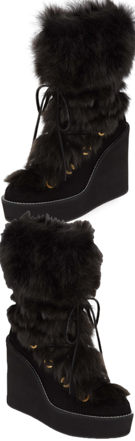 Stuart Weitzman Nikita Genuine Fur Boot