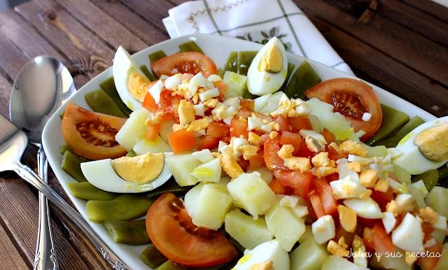 Ensalada de judías verdes. Julia y sus recetas