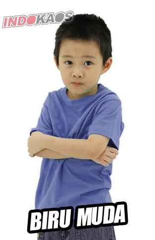 Kaos Polos Anak Biru Muda