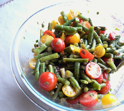 Beans & Cherry Tomatoes in Mint Vinaigrette