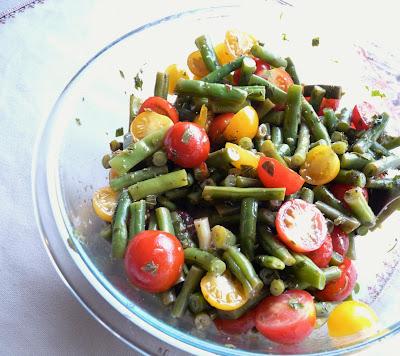 Beans & Cherry Tomatoes in Mint Vinaigrette