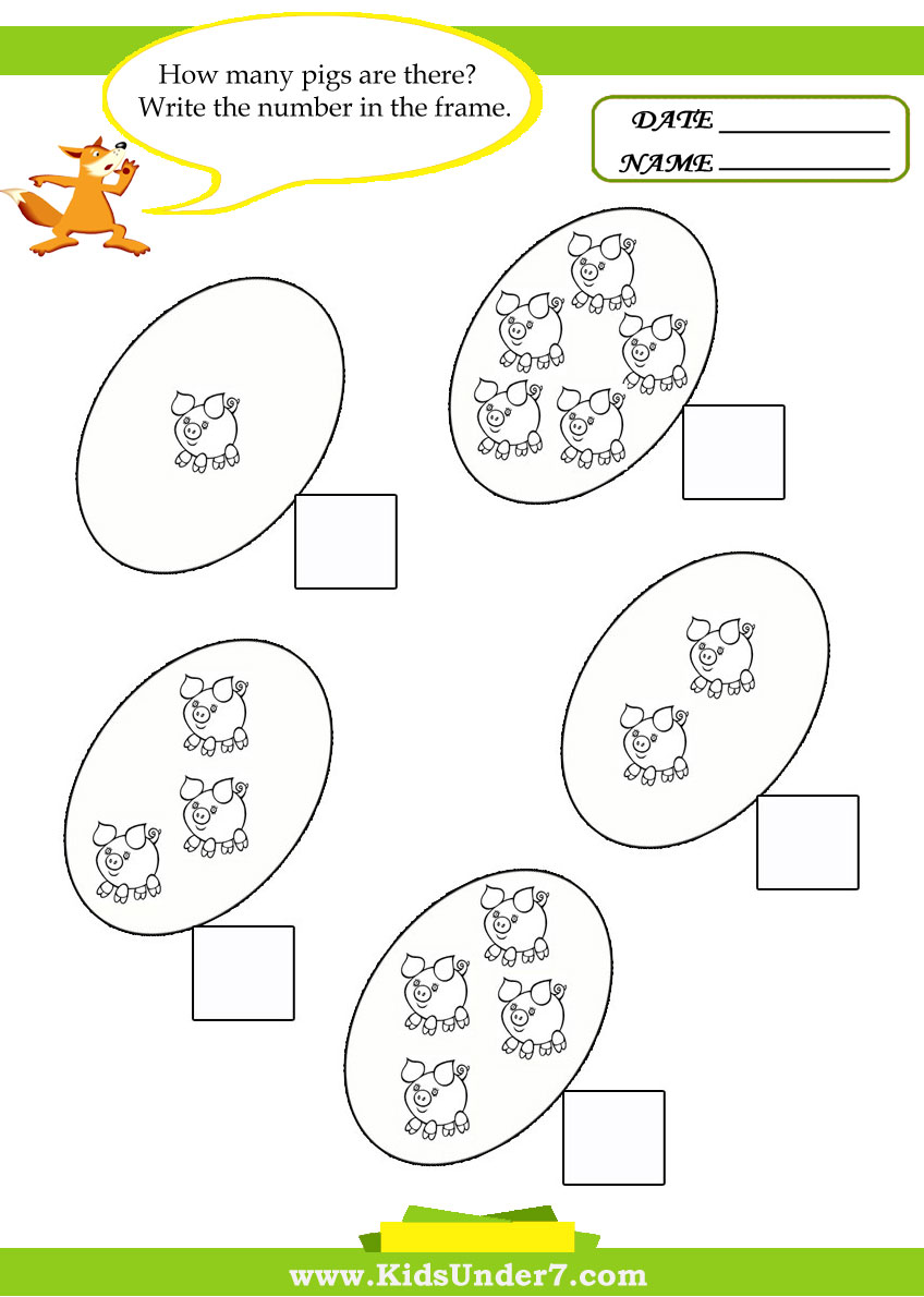 small resolution of Kids Under 7: Kids math worksheets