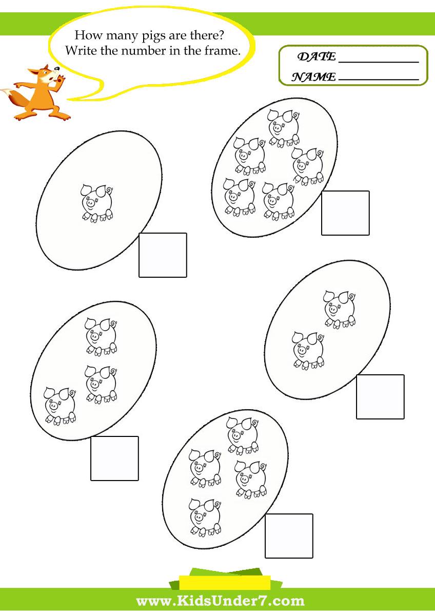Kids Under 7: Kids math worksheets [ 1190 x 848 Pixel ]