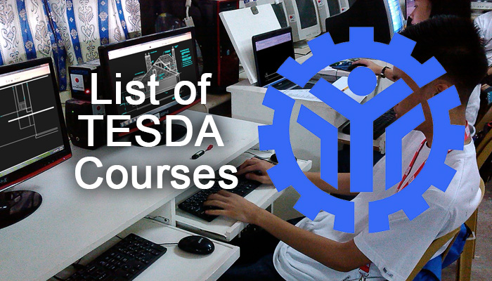 List of TESDA Courses