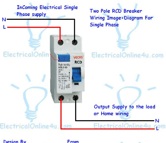 How To Do 2 Pole Fixed Rcd Wiring For Protection Every One
