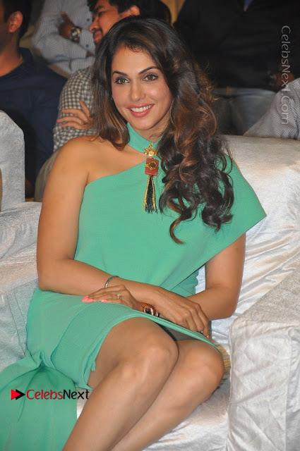 Actress Isha Koppikar Pos in Green Dress at Keshava Telugu Movie Audio Launch .COM 0006.jpg