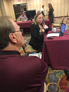 Karen Matthes talking during Technology Session