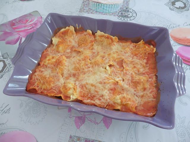 recette Gratin de Raviolis au pesto
