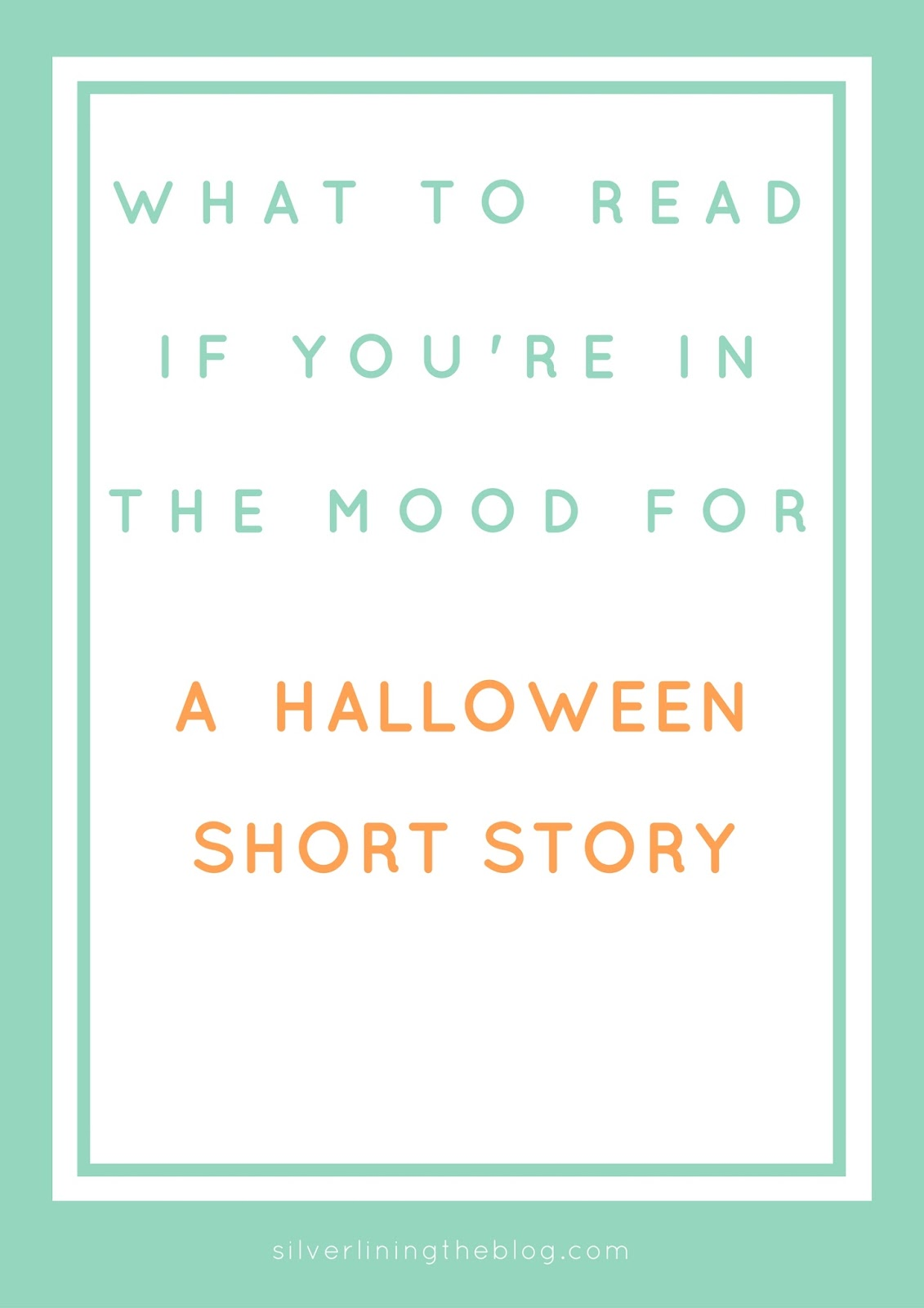 silver lining what to halloween short stories i haven t actually the novel version of this story but i a shortened graphic novel it was the perfect blend of scary