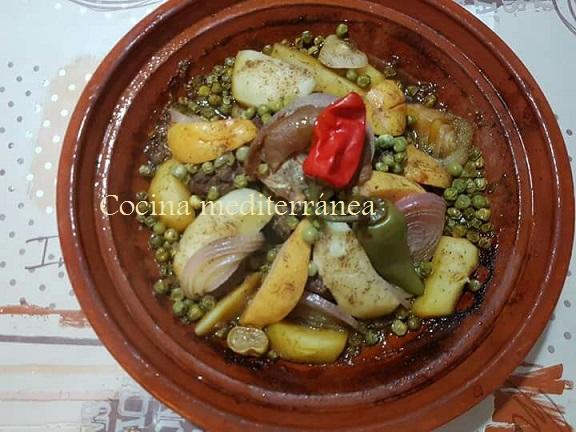 Taj n de cordero cocina mediterr nea - Cordero estilo marroqui ...