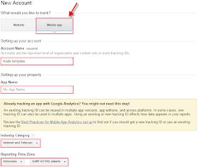 Cara daftar dan mendapatkan tracking kode google analitic