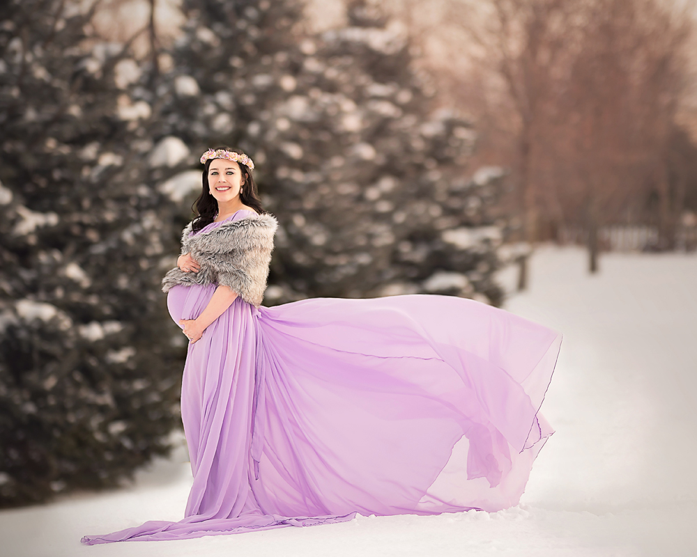 DeKalb, Geneva, Sycamore, IL Maternity photographer with flowy dresses