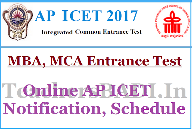 AP ICET 2017 Results,MBA MCA Entrance Test Results 2017