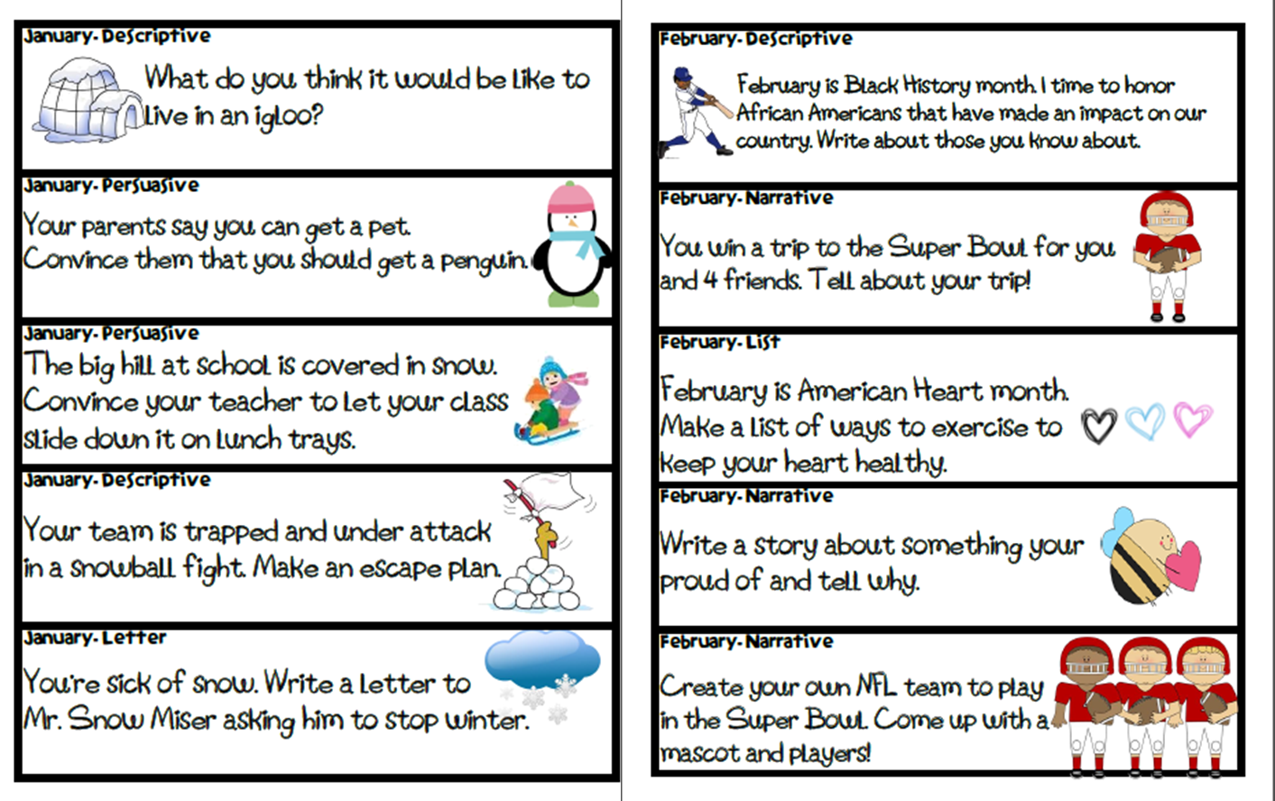 Persuasive Essay Prompts For 5th Graders