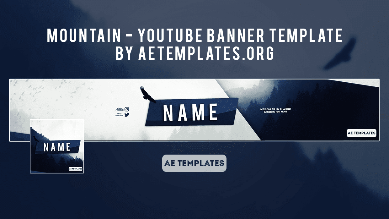 Mountain - Youtube banner template | AE Templates