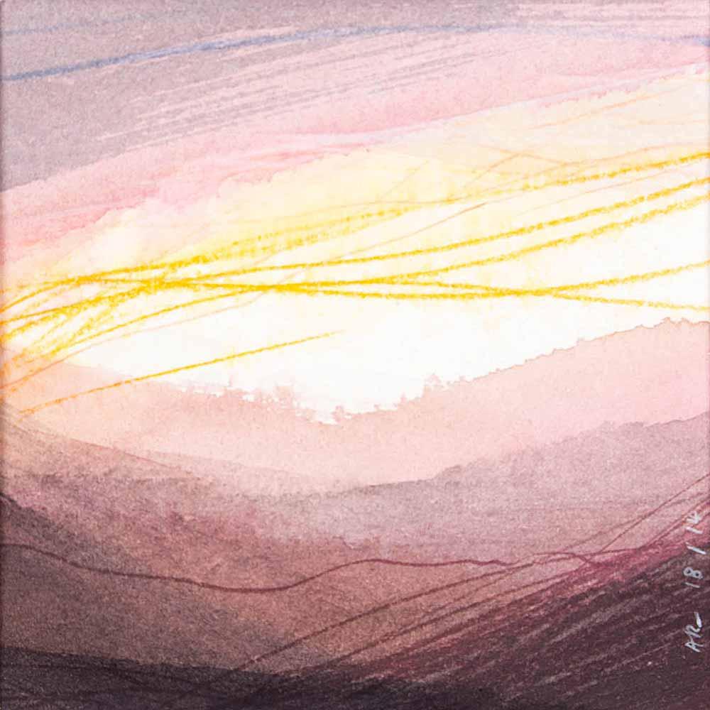 10 x 10 cm aquarelle et crayons sur papier, 18 jan 14