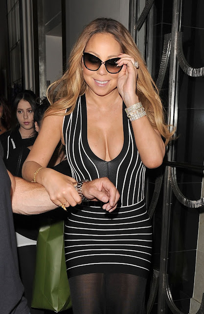 Actress, Singer, @ Mariah Carey – Leaves Claridges Hotel in London