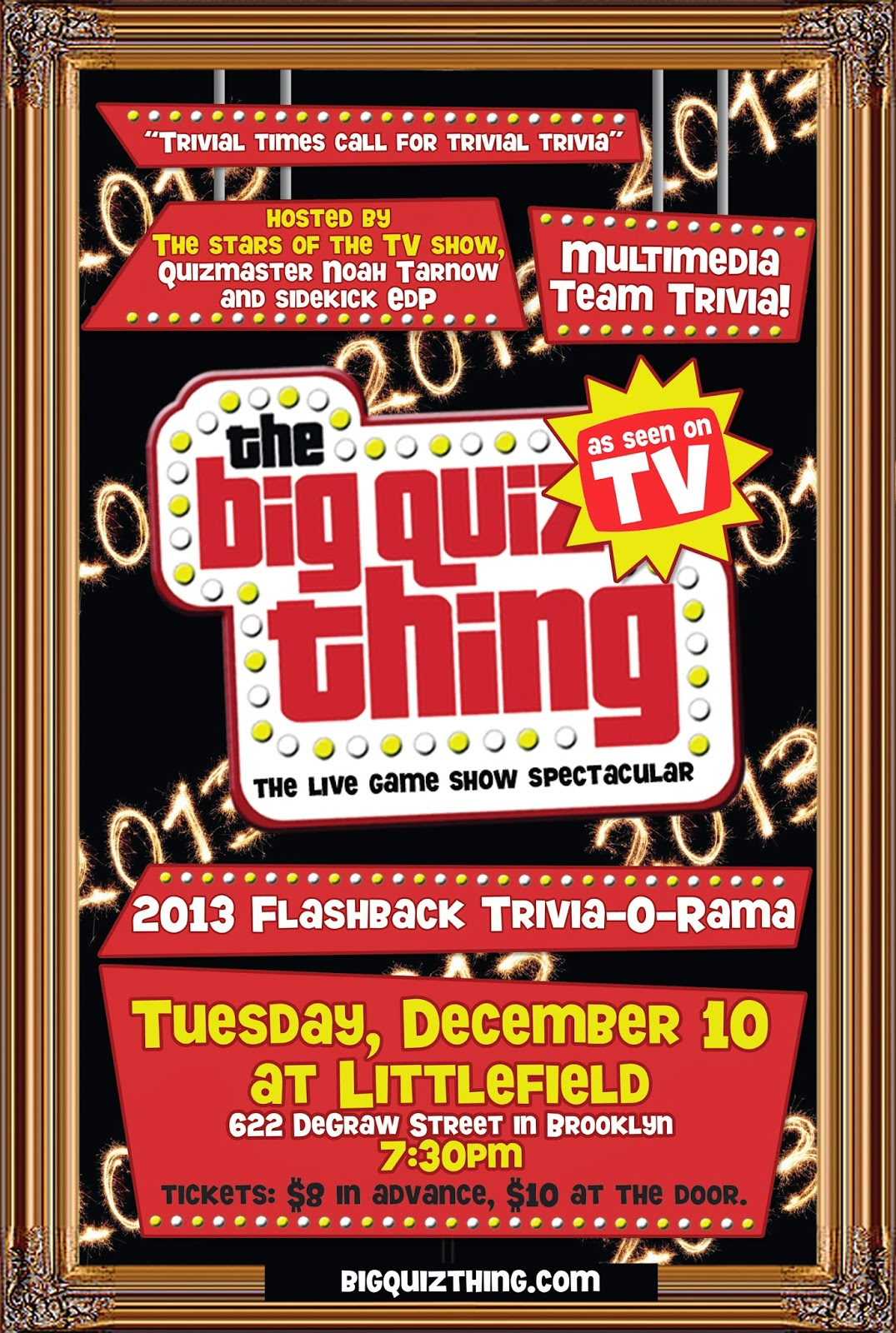 The Big Quiz Thing: NYC: Coming soon—the 2013 Flashback