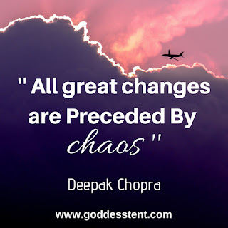 All Great changes are .. By Deepak Chopra