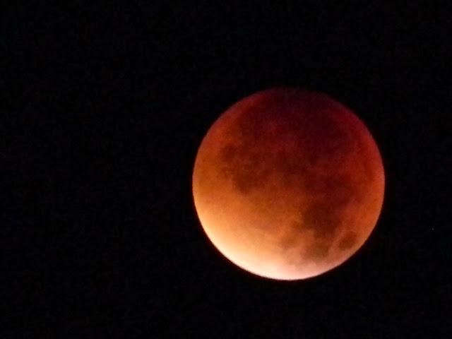 czerwony księżyc, zaćmienie księżyca, astronomia