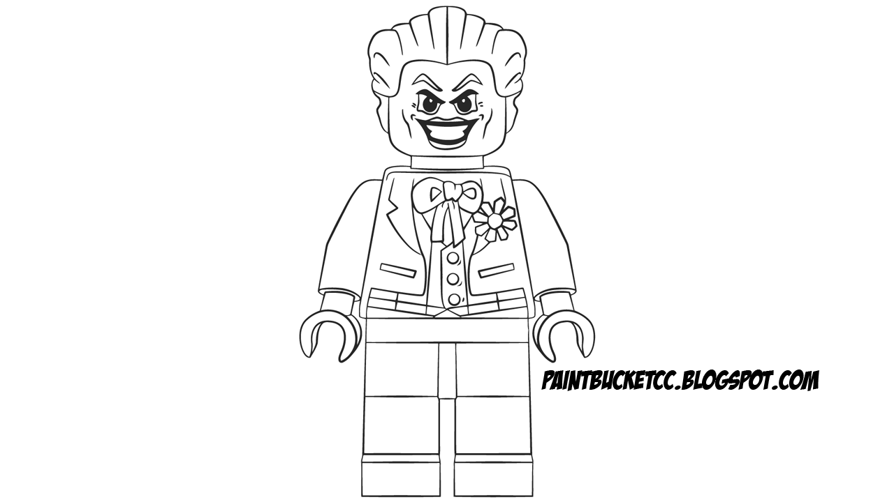 Paint Bucket Coloring Pages and Pixel Art: LEGO Joker Minifigure