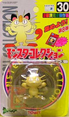 Meowth Pokemon figure Tomy Monster Collection series