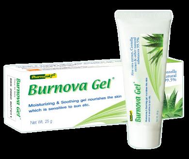 เจลว่านหางจระเข้  Vitara Pharmacok'f Burnova Gel Plus