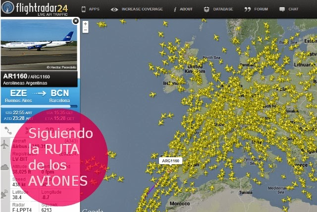 Sigue online la ruta del Avion que te interese