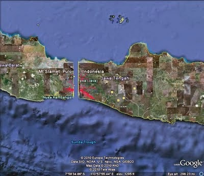 pulau jawa terbelah menjadi dua bagian