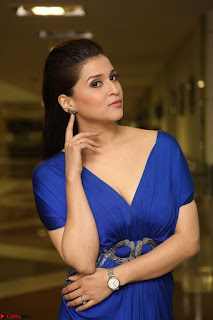 Mannara Chopra in Short Blue Dress at Rogue Movie Teaser Launch 1st March 2017 112.JPG