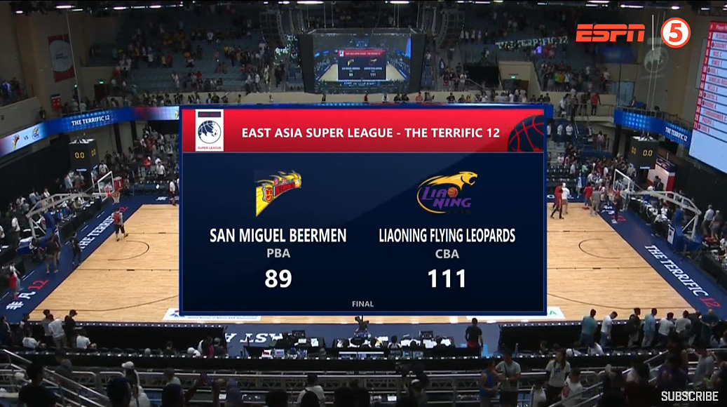 Liaoning Flying Leopards def. San Miguel, 111-89 (REPLAY VIDEO) 2019 Terrific 12  Semis