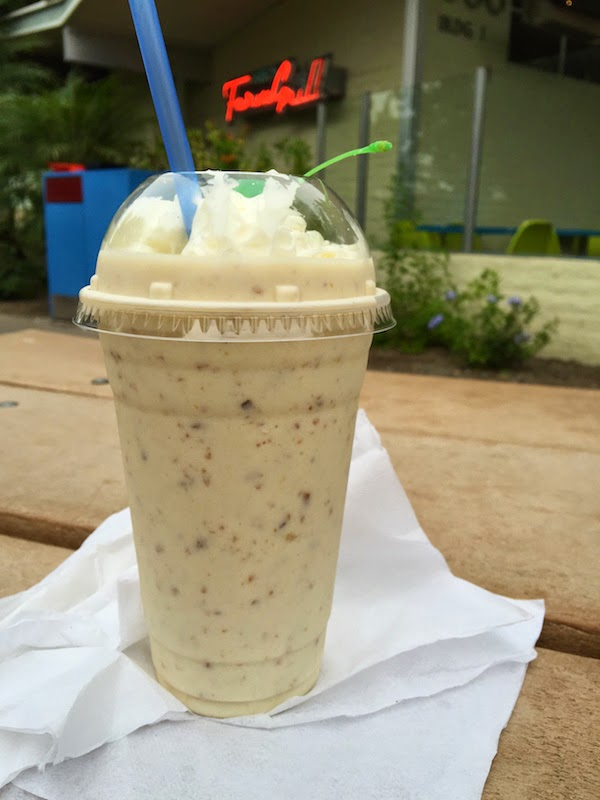 Date milkshake at Joe's Farm Grill