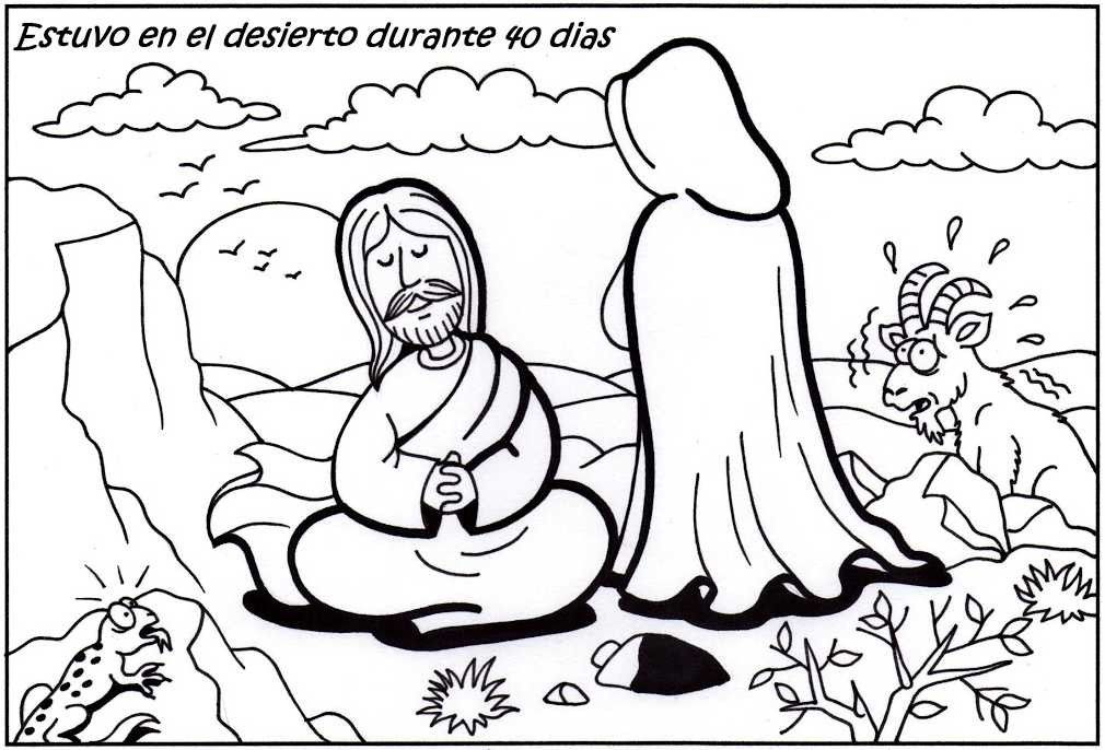 It's just a photo of Genius Jesus Tempted In The Wilderness Coloring Sheet