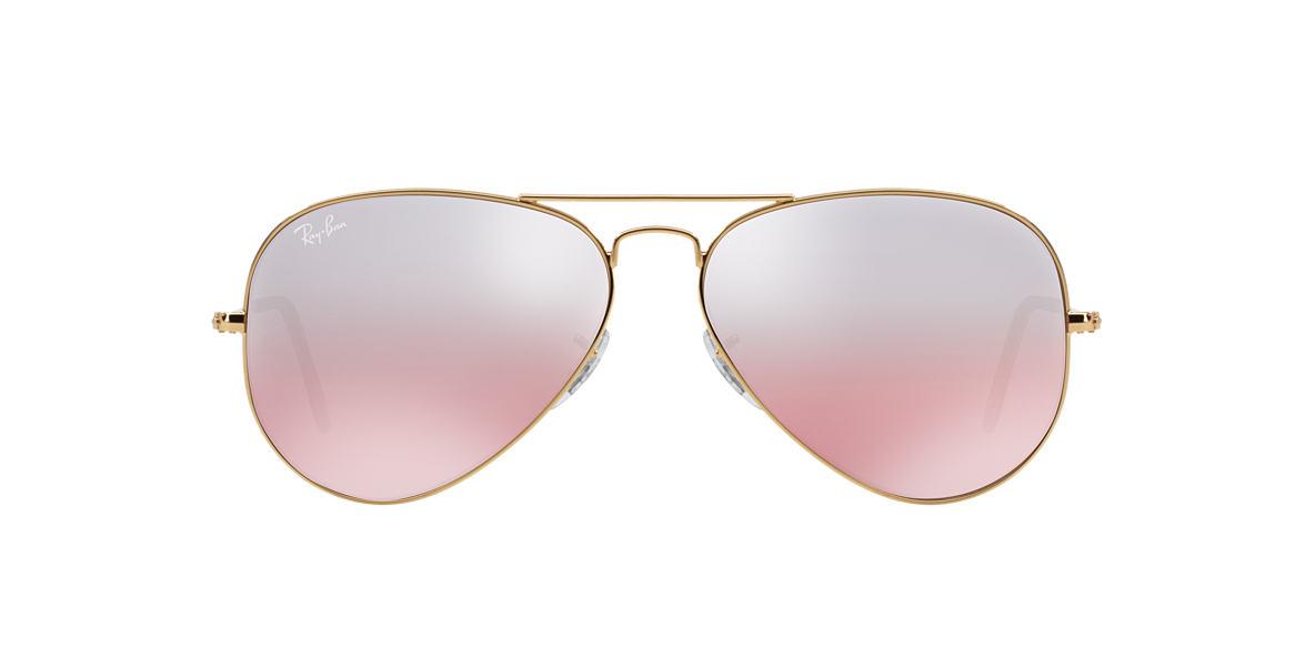 Rose gold Ray-Ban aviators