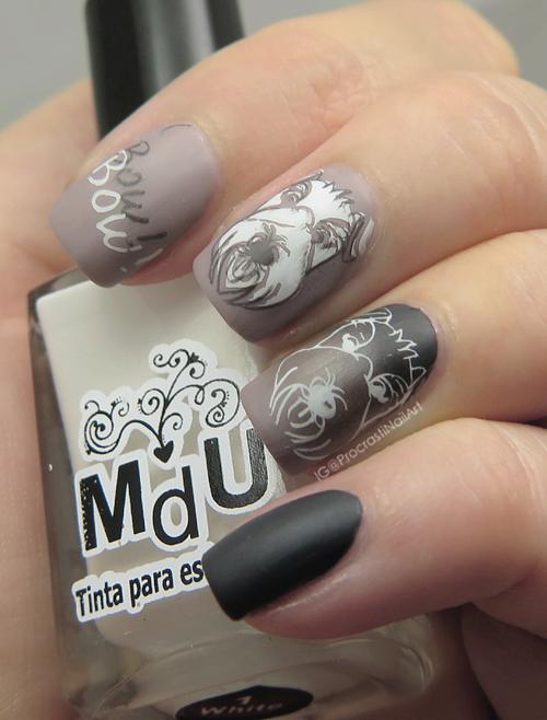 Nail Art // Double Stamped Scottie Dog Nails - ProcrastiNails