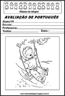 Capa para avaliação de português