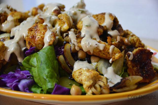 grilled shawarma salad סלט שווארמה בגריל