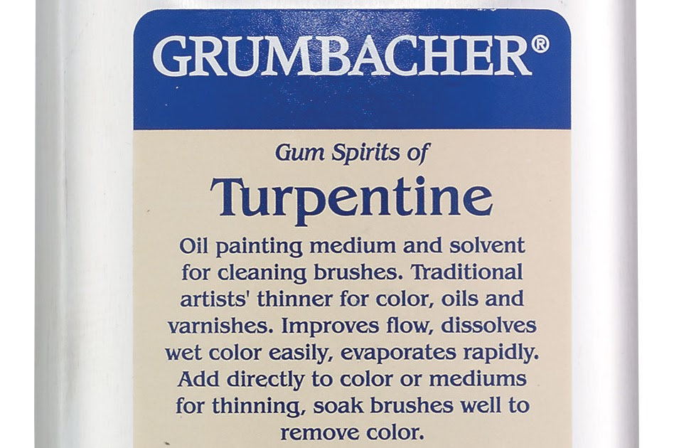 Muddy Colors: Studio Safety Pt, 2 - The Facts About Turpentine