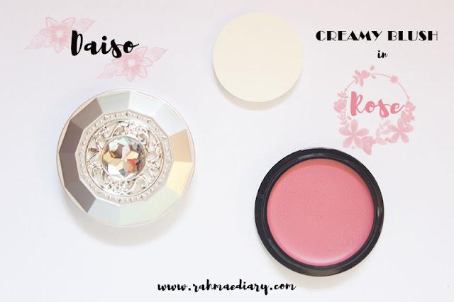Daiso creamy blush