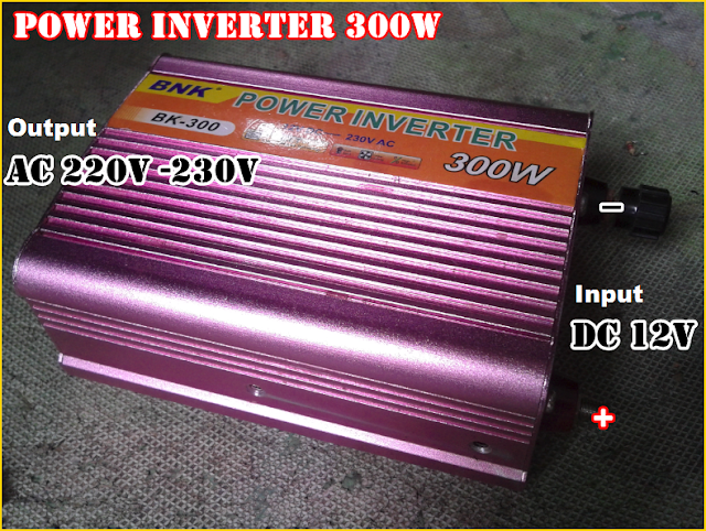 Gambar dan Keterangan Alat Power Inverter Pengubah DC 12V menjadi AC 220V / 230V