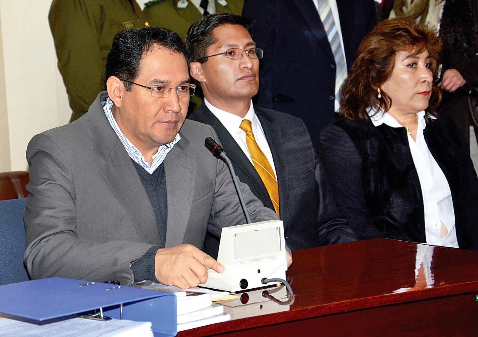 Guerrero y Blanco asumieron el caso Alexander apuntando responsabilidades contra el médico y otras cinco personas / CARLOS QUISBERT