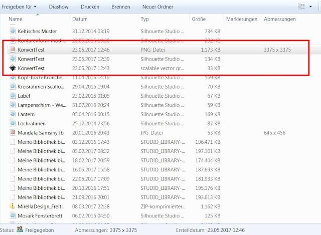 Screenshot mit Ausschnitt aus dem Windows-Explorer