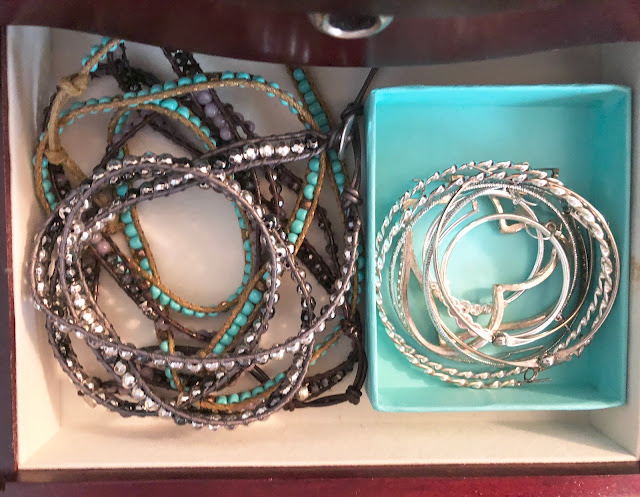 bracelets in Organized Jewelry Box