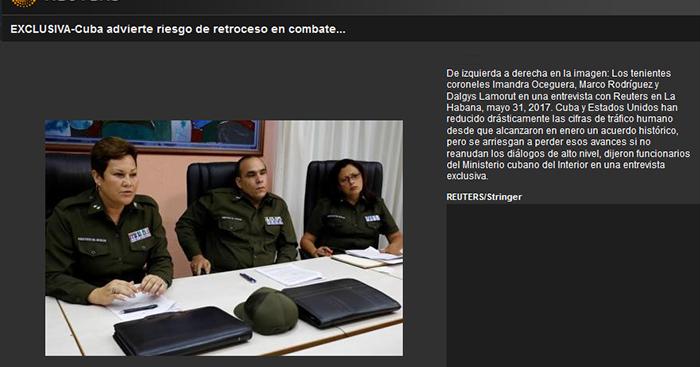 Cuba advierte riesgo de retroceso en combate a tr fico for Nomina de funcionarios del ministerio del interior